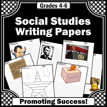 Social Studies Writing Papers, Supplement US Presidents Day Activities