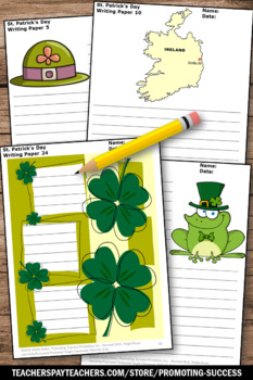 St. Patrick's Day Writing Papers, Holiday Packet