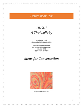 HUSH! A Thai Lullaby: Ideas for Conversation