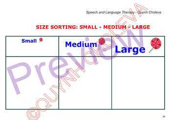 33 pages: Small, smaller, smallest, big, bigger, biggest, large, largest.