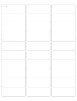 HW Folder Labels