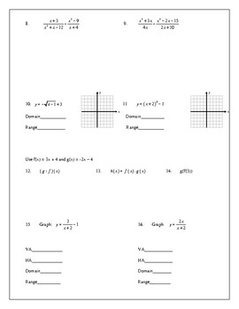 HW Multiplying and Dividing Rational Expressions