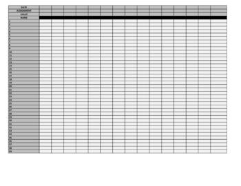 Grade Keeper - Small Font - gray boxes