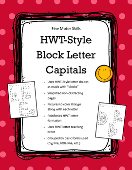 HWT-Style Block Letter Capitals * Wood Pieces * Color Uppercase Letters