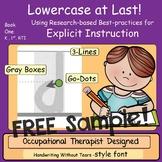 Teach Handwriting Explicit Instruction FREEBEE