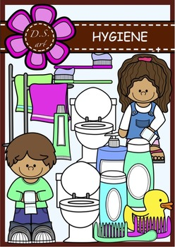 HYGIENE Digital Clipart (color and black&white)