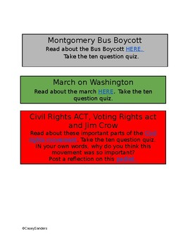 HYPERDOC CIVIL RIGHTS-key people and events