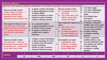 HYPHEN AND DASH LESSON PRESENTATION