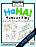 Ha Ha! Handwriting Secret Code Jokes / Practice for Older Kids *WINTER*
