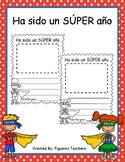 Ha sido un SÚPER año - Its been a SUPER year Writing (Spanish)