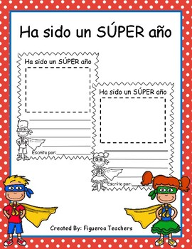 Ha sido un SÚPER año - Its been a SUPER year Writing (Spanish)