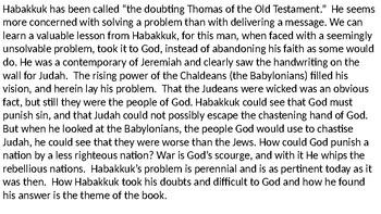 Habakkuk Power Point Notes