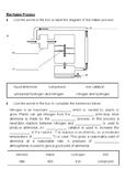 Haber Process worksheet GCSE Chemistry SC12a