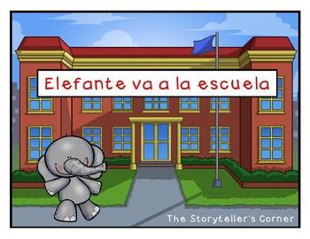 Spanish Transportation Story - Elefante va a la escuela