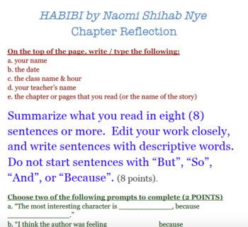Habibi Reading Reflection