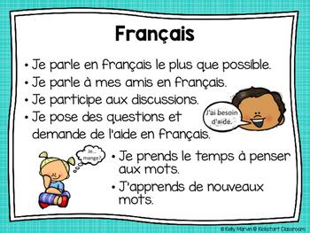 Habiletés et habitudes d'un bon apprenant - French Learning Skills Posters