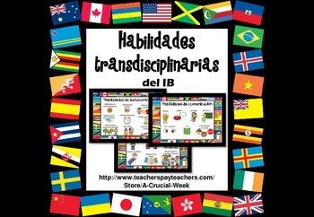 Habilidades transdisciplinarias del PEP - IB Skills posters in Spanish