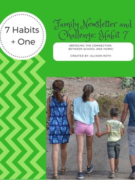 Habit 7: Sharpen the Saw Family Newsletter and Challenge