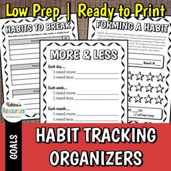 Habit Creating & Habit Breaking Organizers