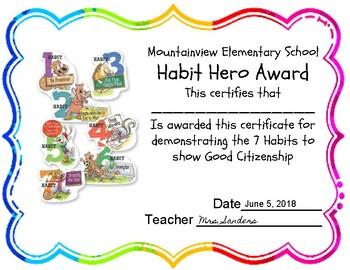 Habit Hootenanny Awards