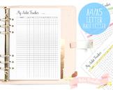 Habit Tracker Printable Planner Insert