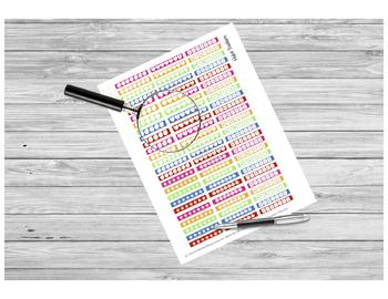 Habit Tracker Sticker PRINTABLE for Teacher Planners by