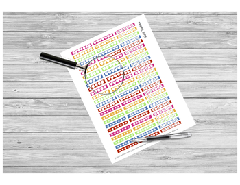 Habit Tracker Sticker PRINTABLE for Teacher Planners