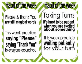 Habit of the Week