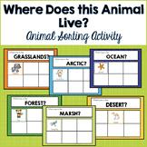 Habitat Animal Sorting Activity
