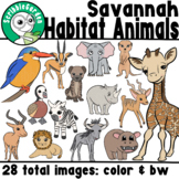 Habitat Animals: African Savanna ClipArt