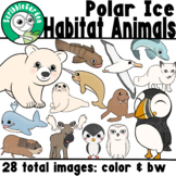 Habitat Animals: Polar Ice ClipArt
