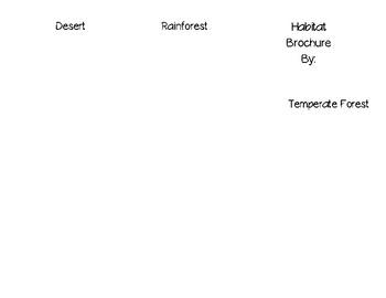 Habitat Brochure Template