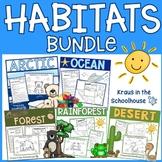 Habitat Bundle - Ocean, Arctic, Desert, Rainforest, Woodland Forest