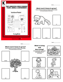 Habitat Bundle: Puzzle- IT!  & Worksheets (NGSS K-LS1-1)