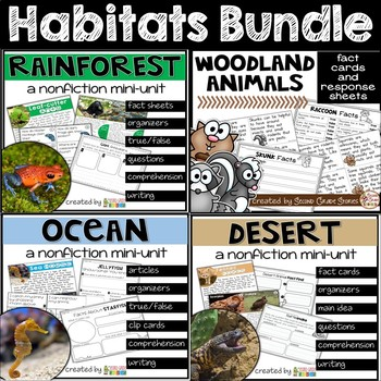 Habitat Bundle - Rainforest, Woodland, Ocean, Desert