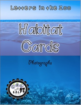 Habitat Cards Letters in the Zoo