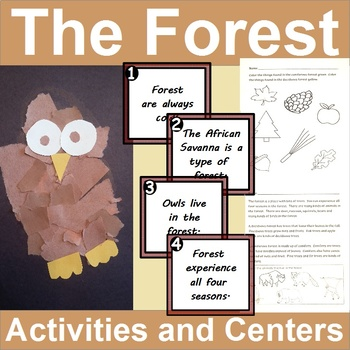 Habitat Centers and Activities for The Forest