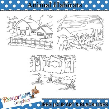 Animal Habitat Clip art