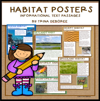 Habitats Posters for Informational Text Close Reads