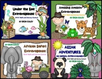 Animal Habitats Extravaganza Bundle #1 (98 Math & Literacy Centers)