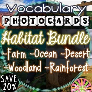 Habitat Vocabulary Photo Flashcards Bundle