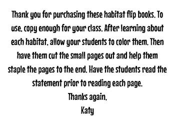 Habitat Flip Books