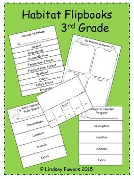 Habitat Flipbooks for 3rd Grade