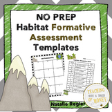 Assessment Templates | Formative Assessment | Habitat Activities | Habitats