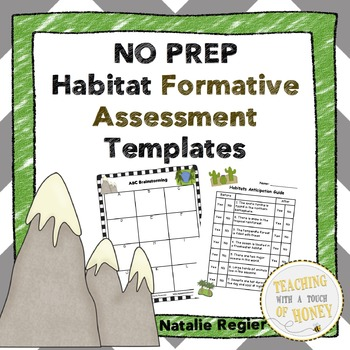 Assessment Templates | Formative Assessment | Habitat Activities | Habitats