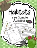 Habitats - rainforest and desert free activities
