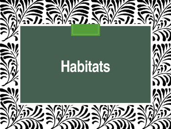 Habitat Guessing Game