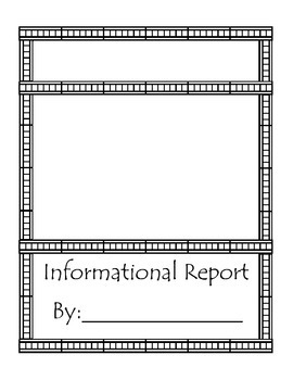 Habitat Informational Report Blank Template