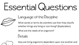 Habitat Journal Essential Questions