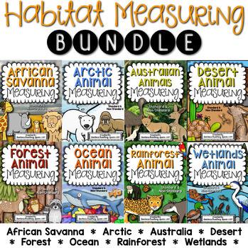 Habitat Measurement BUNDLE --- Measuring Animals Books and Math Centers